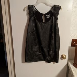 Lane Bryant tank with faux leather